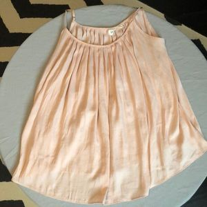 Blush pink silky cami by Gap